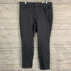 NYDJ ami skinny legging jeans stretch gray pewter